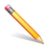Vector illustration of pencil Stock Photos