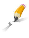 Vector illustration of a pencil Stock Photography