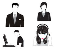 Vector illustration of the people Royalty Free Stock Images