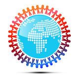 Vector Illustration of People Holding Hands Stock Image