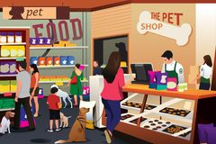 People Shopping For Their Pets at Pet Shop Royalty Free Stock Photography
