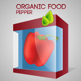 Vector illustration of pepper in packaged Stock Image
