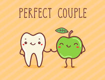 Vector illustration - Perfect couple. Vector hand draw illustration - perfect couple Stock Photos