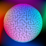 Vector illustration of perfect maze. EPS 8 Royalty Free Stock Images