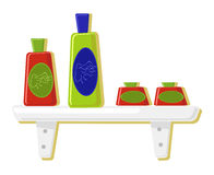 Vector illustration of perfume bottles Stock Images