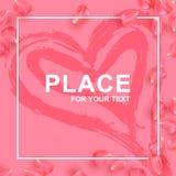 Petals rose card for information royalty free illustration