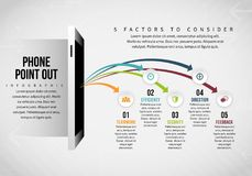 Phone Point Out Infographic Royalty Free Stock Photo