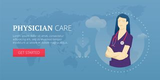 Physician care banner Stock Images