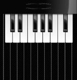 Vector illustration of piano keys. Vector illustration of realistic piano keys over textile background for your text Royalty Free Stock Photography