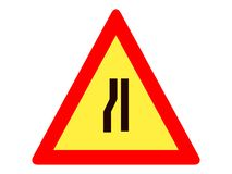 Picture of a traffic sign icon royalty free illustration