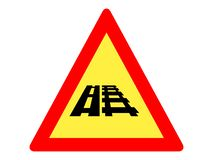Picture of a traffic sign icon vector illustration