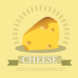 Vector illustration Pieces of cheese Royalty Free Stock Images