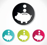 Piggy bank icon Stock Photography