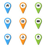 Vector illustration of Pin Place Icon Royalty Free Stock Photography