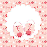 Vector Illustration of Pink Baby Shoes for Newborn Stock Photos