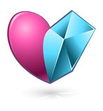 Vector illustration of pink and blue heart Stock Photos