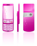 Vector illustration of a pink cellphone Stock Photo