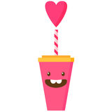 Vector illustration of pink cup Royalty Free Stock Images