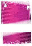 Vector illustration of pink grunge wallpaper Stock Photo