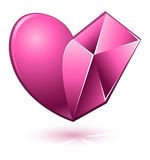 Vector illustration of pink heart Royalty Free Stock Photography