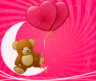 Vector illustration of  pink  hearts Stock Photos