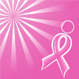 Vector illustration of pink Support Ribbon  Stock Images