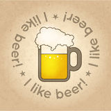 Vector illustration for pint of beer Stock Images