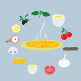 Vector illustration of pizza Royalty Free Stock Photo