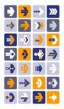 Vector illustration of plain arrow icons. Eps10. Stock Photos