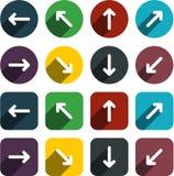 Flat arrow icons. stock illustration