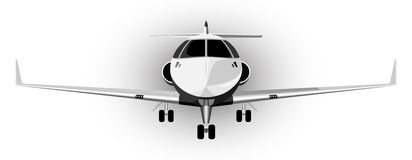 Vector illustration of the plane Royalty Free Stock Photos