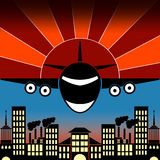 Vector illustration of an airplane Royalty Free Stock Images