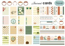 Cards stickers travel Royalty Free Stock Images