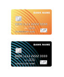 Vector illustration of a plastic credit card. Stock Image