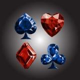 Vector illustration playing cards symbol sign suit set stock illustration