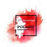 Vector Illustration Poland Independence Day, Polish Flag In Trendy Grunge Style. 11 November Design Template For Poster Stock Image