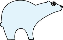 Vector illustration of  a polar bear. Vector illustration of a stylized polar bear Royalty Free Stock Image