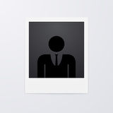 Vector illustration of a Polaroid picture Royalty Free Stock Images