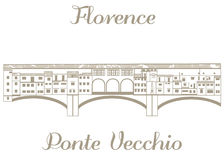 Vector illustration of Ponte Vecchio. Vector hand-drawn textured illustration of Ponte Vecchio Stock Photos