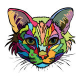 Vector illustration. Pop art portrait of a cat. Stock Photo