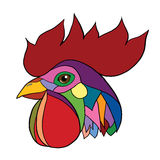 Vector illustration pop art rooster head Stock Photography