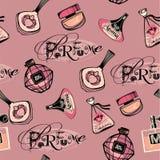 Vector illustration of porfume bottles Royalty Free Stock Image