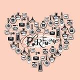 Vector illustration of porfume bottles Royalty Free Stock Photo