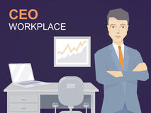 Vector illustration of a portrait of ceo Stock Images