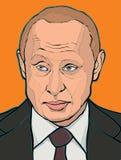 Vladimir Putin. A vector illustration of a portrait of President Vladimir Putin Stock Photography