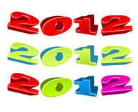 Vector illustration of positive 2012 year. Vector illustration of positive colorful 2012 year Stock Photo