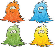 Vector illustration of a  positive monster Stock Photography