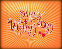 Vector illustration postcard Happy Valentine`s Day Stock Images