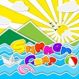 Summer Camp Poster. Vector illustration of poster design for Summer Camp stock illustration