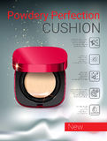 Vector Illustration with powder cushion container. Stock Image